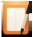 Napkin Logo: An orange napkin dispenser with a marker.